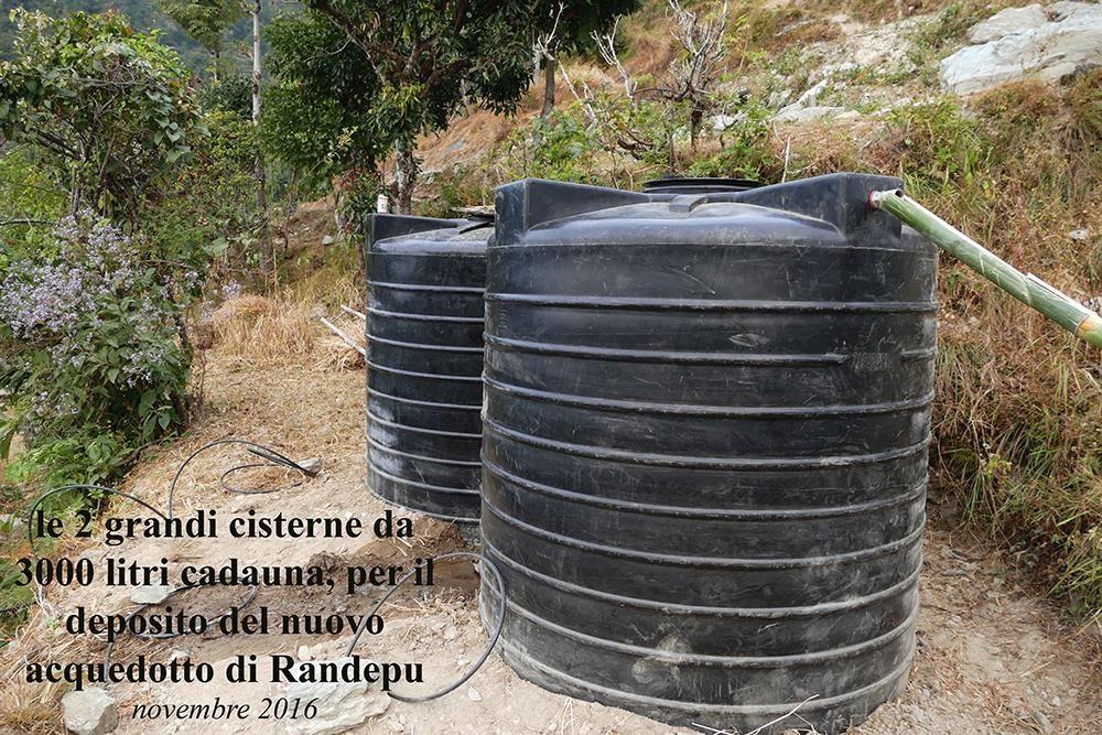 Cisterne per deposito acquedotto Randepu CiaoNamastè Nepal