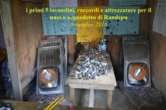 Lavandini e attrezzature per acquedotto Randepu CiaoNamastè Nepal