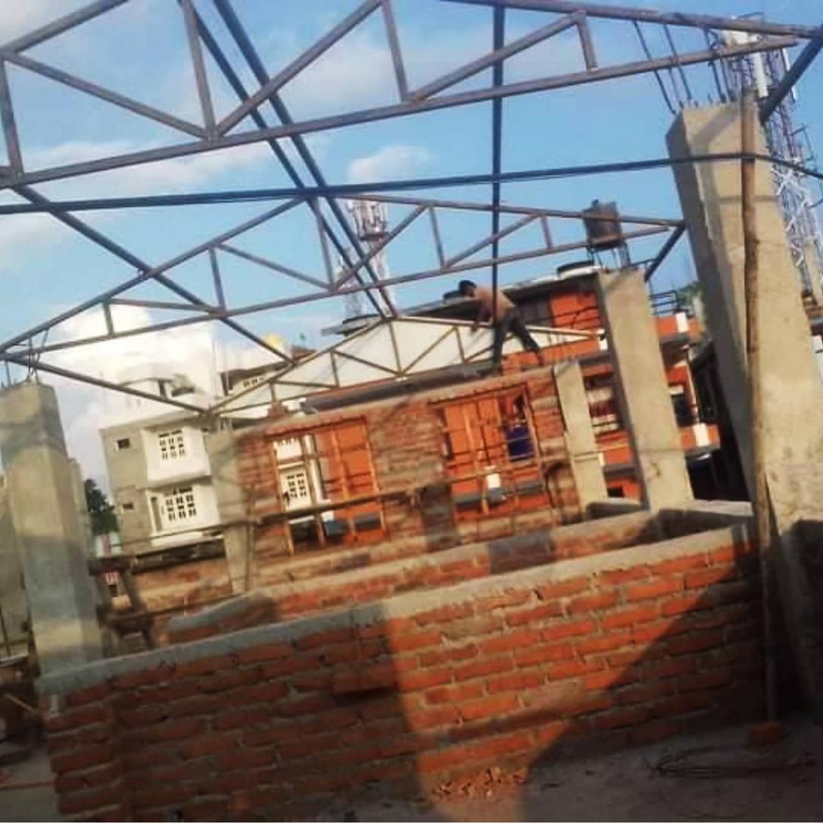 Posizionamento delle capriate - Bhagawati School
