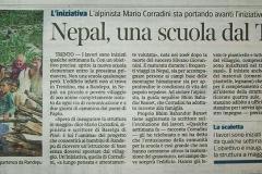 Nepal, una scuola dal Trentino