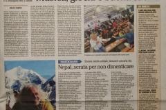 L'Adige 29 maggio 2016 Nepal, serata per non dimenticare