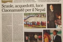 L'Adige 23 marzo 2017 Scuole, acquedotti, luce CiaoNamastè per il Nepal