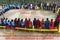 Barkhughat. Inaugurazione scuola febbraio 2017 CiaoNamastè Nepal