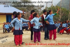 Inaugurazione Barkhughat. Danze scolari CiaoNamastè Nepal