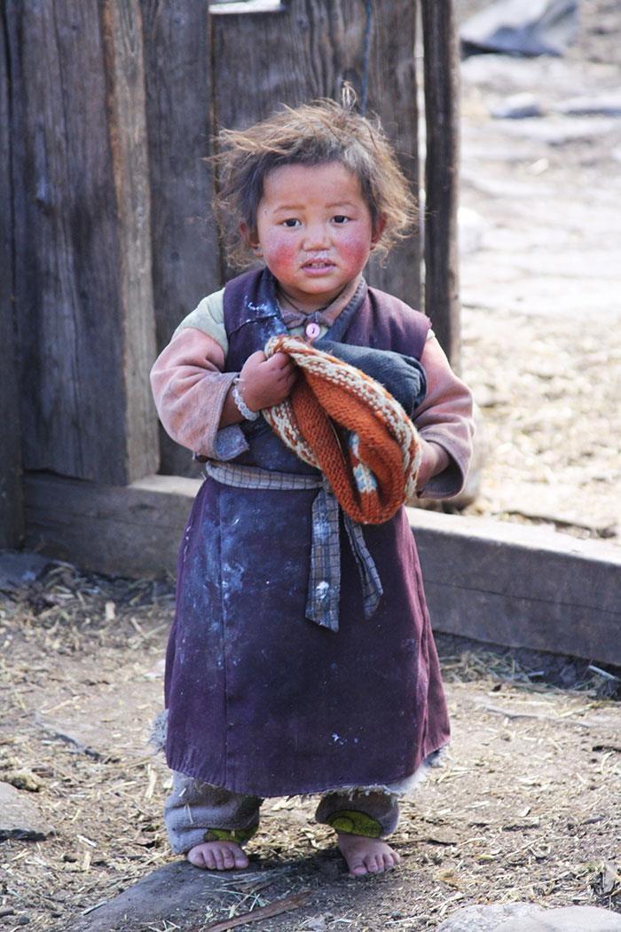 CiaoNamastè bimbo Samagaon Nepal